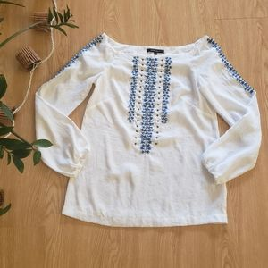 Nanette Lapore embroidered off shoulder blouse